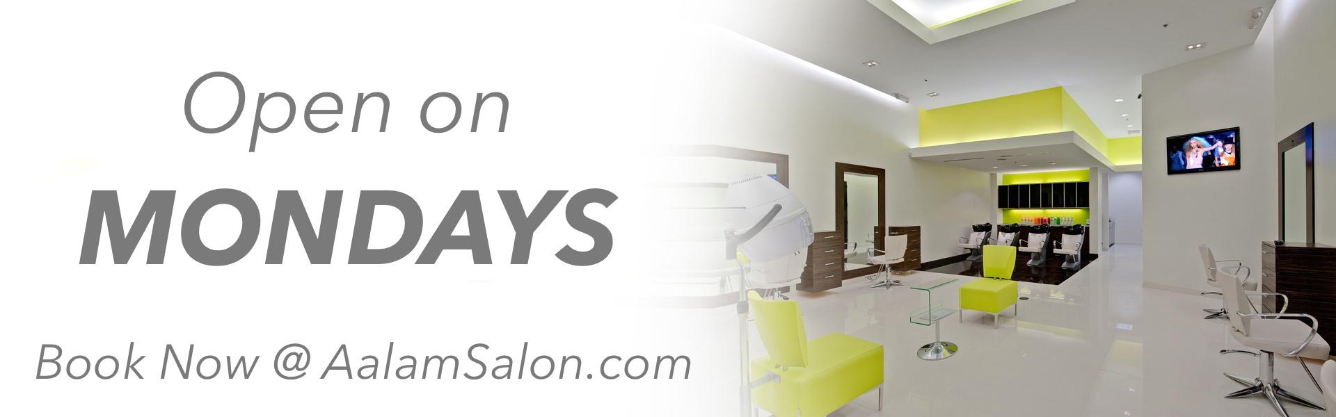 Hair Salon Open on Monday in Plano Frisco Dallas Allen McKinney Addison TX DFW AALAM The Salon For Men women Upscale High End Hair salon open on Mondays Haircut Color